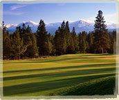 Golf Scenic Shot - Trees and Mountain